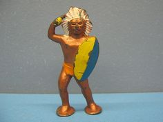 Lead Indian w Knife Vintage Antique Barclay Cowboy Western American Indian | eBay