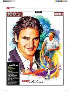 Roger Federer 100 Leyendas del Deporte / 100 Sports Legends by Jesús R. Sánchez, via Behance