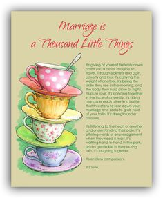 Marriage is a Thousand Little Things - Free Printable.