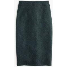 J.Crew No. 2 Pencil Skirt ($150) ❤ liked on Polyvore featuring skirts, petite, j.crew, tweed skirt, petite pencil skirt, pencil skirt and petite long skirts