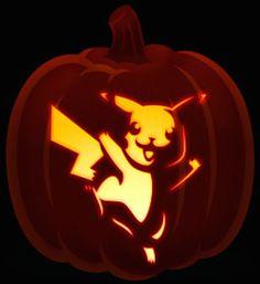 Pikachu will be all the rage with the popularity of Pokemon GO Pumpkin Template, Pumpkin Printable, Pumpkin Carving Templates, Scary Pumpkin Carving, Amazing Pumpkin Carving, Pumpkin Carvings, Guy Fawkes, Easy Pumpkin Designs, Pumpkin Ideas