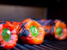roasted your peppers, you will need to steam them. This process will help you peel the tough skin from them more easily. There are a few ways to steam the peppers. I like to place the roasted peppers on a flat, smooth surface like a cutting board