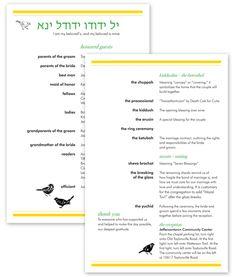 Jewish Wedding Booklet. 50th Wedding Anniversary Stone. How To Plan ...