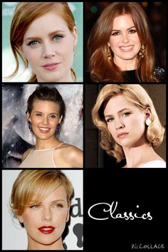 Kibbe•Classics• Possibles• Amy Adams, Isla Fisher, Maggie Grace, January Jones, Charlize Theron