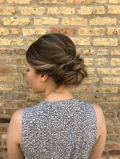 romantic updo hairstyle with double twists, perfect for prom or a wedding reception | hairstyle + makeup by goldplaited