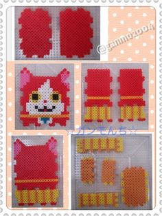 Kitty Cat 3D holder perler beads .