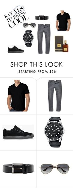 """Men´s Fashion"" by merima-sisic ❤ liked on Polyvore featuring HUGO, River Island, Vans, Prada, Ray-Ban, Tom Ford, men's fashion and menswear"