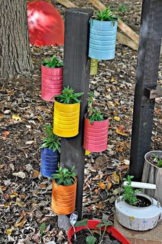 Recycled Tin Can Planter