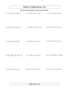 Printables Order Of Operations With Integers Worksheet of operations with integers worksheet davezan order davezan