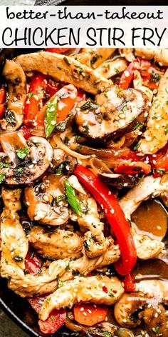 This better than takeout chicken stir fry recipe is packed full of fresh veggies and covered in a flavor-packed garlic and ginger sauce. dinner stir fry Better Than Takeout Chicken Stir Fry Teriyaki Stir Fry, Thai Stir Fry Sauce, Healthy Stir Fry, Veggie Stir Fry, Healthy Chicken Recipes, Asian Recipes, Chicken Stirfry Recipes, Chicken Teriyaki Recipe, Keto Chicken
