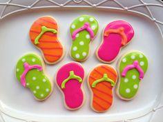 Summer Flip Flop Cookies by TwoCrazyCookies on Etsy