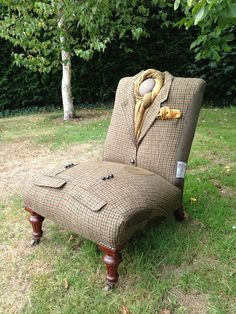 These Incredible Chairs Have Military Uniforms Instead of Upholstery. Wow!