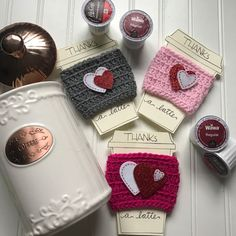 A personal favorite from my Etsy shop https://www.etsy.com/listing/492634358/heart-crochet-coffee-cozy-coffee