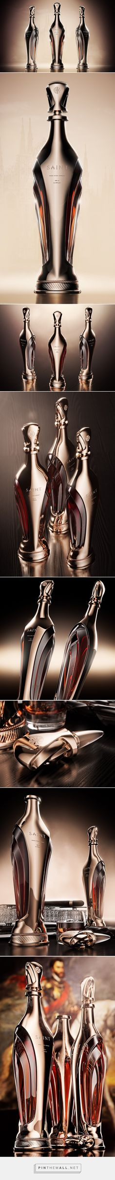 Saint - Luxury Cognac Bottle  packaging design #concept by Ivan Venkov - http://www.packagingoftheworld.com/2017/10/saint-luxury-cognac-bottle-concept.html