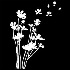 "Flowers in the Wind Window Decal Sticker 7.5"" Vinyl Decal Window Sticker for Laptop Ipad Window Wall Car Truck Motorcycle"