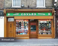 Excellent old shopfront, showing the separation of retail and living accomodation. Once, all Dublin shopfronts were of these quality. Now wrecked, the building above it derelict. The building proba… Dublin Street, Dublin City, Old Photographs, Old Photos, Local History, Dublin Ireland, Old And New, Impressionist, Art Direction