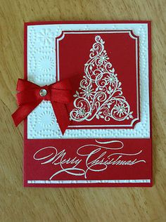 Christmas card. love the white on red