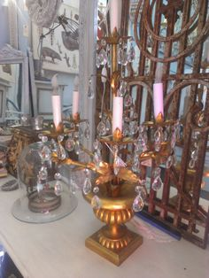 Italian Gilt Vintage Candelabra by DreaminParis on Etsy
