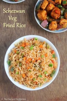 If I am given a chance in between a regular Veg fried rice and Schezwan fried rice I would definitely choose the latter as I love the. Veg Recipes, Indian Food Recipes, Asian Recipes, Vegetarian Recipes, Cooking Recipes, Healthy Recipes, Ethnic Recipes, Easy Recipes, Goodies