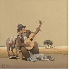 guitarrero payador Gaucho, Old Art, Frames, Drawings, Country Man, Chevy Pickups, Caricature, Norte, Room