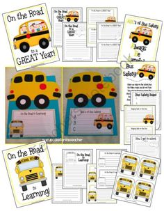 back to school bus craftivity and a safety lesson, too! from ACupcakefortheTeacher on TeachersNotebook.com (46 pages)