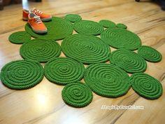 Super Soft Rug Accent Rug Freeform Rug Hand Crochet Rug