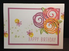 My Creative Corner!: A Swirly Bird Birthday Card