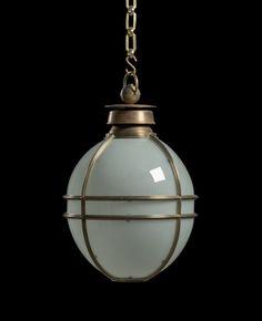 'Markham' Globe Lantern by Will Fisher of jamb