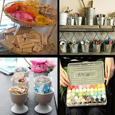 junkgarden: Organize.....your craft supplies Love how Organized she is!!!!!!