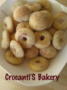 Donuts con azúcar y canela
