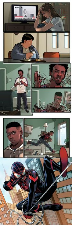 After the Snap 2 || Avengers Infinity War || Spiderman : Miles Morales || Cr: Stephen Byrne