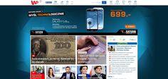 Portal wp.pl najważniejsze wiadomości prezentuje w wyraźny sposób