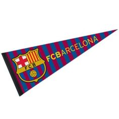 FC Barcelona Pennant Flag is made of felt/wool blends and is single sided screen printed with FC Barcelona logos. Our FC Barcelona Pennant Flag...