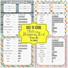 Free Time Frolics: Back to School Blast! Shopping List {Free Printable} + Giveaway