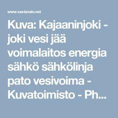 Kuva: Kajaaninjoki - joki vesi jää voimalaitos energia sähkö sähkölinja pato vesivoima - Kuvatoimisto - Photostock Vastavalo.fi
