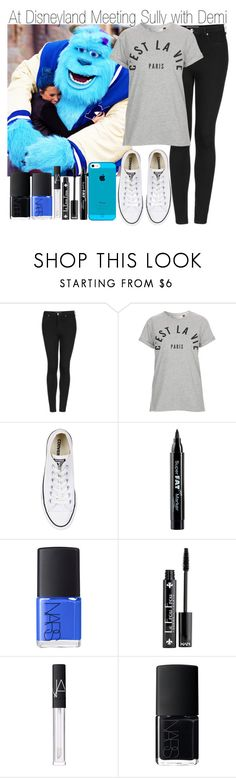 """""""At Disneyland Meeting Sully with Demi"""" by elise-22 ❤ liked on Polyvore featuring Topshop, Tee and Cake, Converse, NYX, NARS Cosmetics, DemiLovato and disney"""