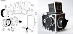 Fabriquez un vrai appareil photo Pinhole Hasselblad en papier !