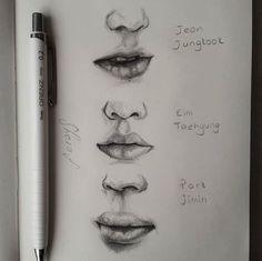 pencil drawings - Best 12 Page 792141021938785191 SkillOfKing Com Pencil Art, Pencil Drawings, Kpop Drawings, Plant Drawing, Drawing Techniques, Art Tips, Drawing Sketches, Sketching, Art Tutorials