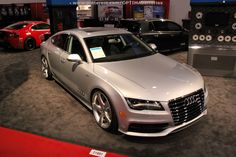 A sleek and clean #Audi at #SEMA 2012