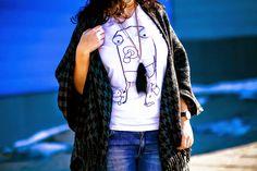 Denim & Poncho | e-Be Fashion | Fashion and Lifestyle blog