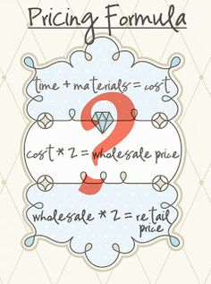A pricing formula for selling crafts and other products. Determine costs, wholesale and retail prices. For etsy and craft store owners and small business startup owners and beginners who want to get ahead of the competition. Craft Projects, Sewing Projects, Projects To Try, Sewing Tutorials, Sewing Crafts, Vinyl Projects, Sewing Patterns, La Petite Boutique, Diy And Crafts