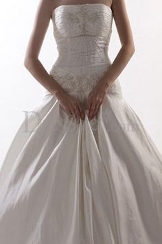 Embellished Drop Waist Wedding Dress