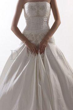 Embellished Drop Waist Wedding Dress