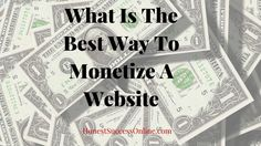 There are different ways to monetize a website, and I will show how each way works. Later, I reveal what the best way for me to make money with my site is. Ways To Earn Money, Earn Money From Home, Make Money Online, How To Make Money, I Site, Affiliate Marketing, It Works, Success, Good Things