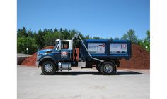 This new outdoor media for our clients, Greely Sand & Gravel included signs and truck wraps!