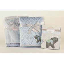 Elephant Jubilee 3 Piece Crib Bedding Set