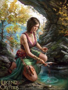 Legend of the Cryptids - Latia (reg), Laura Sava on ArtStation at https://www.artstation.com/artwork/xdxqR