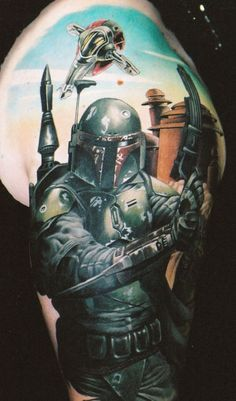 "I am repinning this not because I want this particular tattoo, but because whoever pinned this before me should know that this is Boba Fett, not a ""Warrior"""
