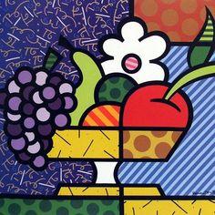IMAGENS PARA DECOUPAGE - Romero Britto Drawing For Kids, Painting For Kids, Diy Painting, Art For Kids, Decoupage, Britto Disney, Fruits Drawing, Cubism Art, Graffiti Painting