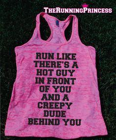 Run Like funny Burnout Tank top.Womens by TheRunningPrincess, $19.99